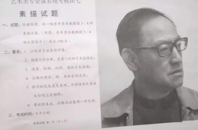 2018年安徽省美术联考考题素描