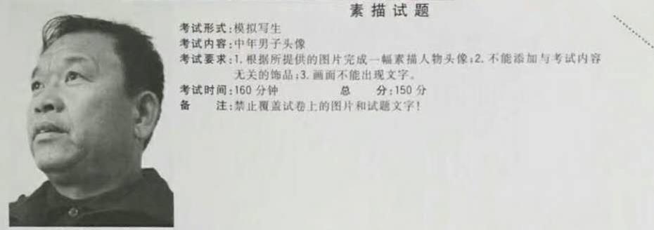 2018年江西省美术联考考题素描
