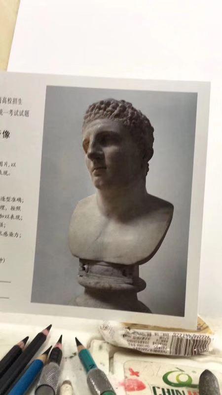 2019年上海市美术联考考题素描