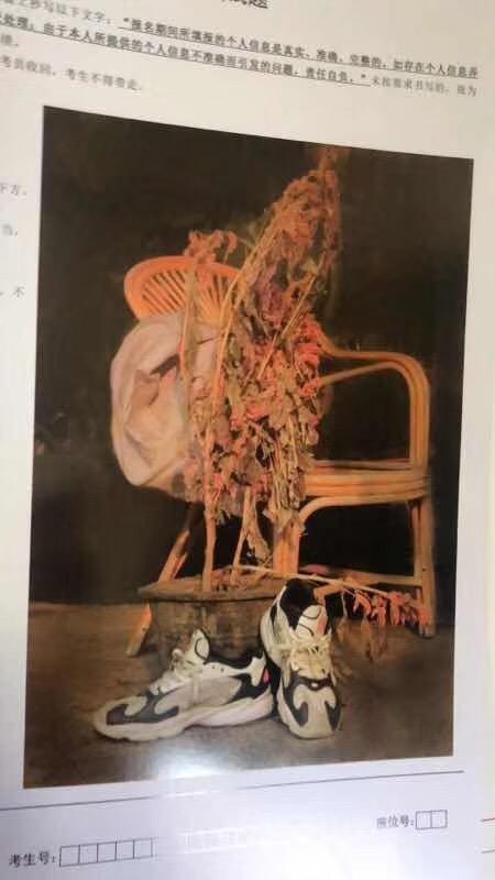 2019年内蒙古美术联考/统考考题素描