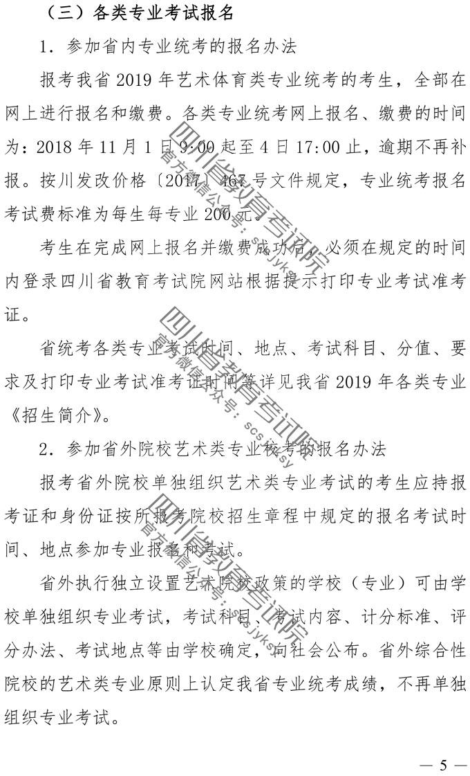 2019年四川艺术类专业招生实施规定_004.jpg
