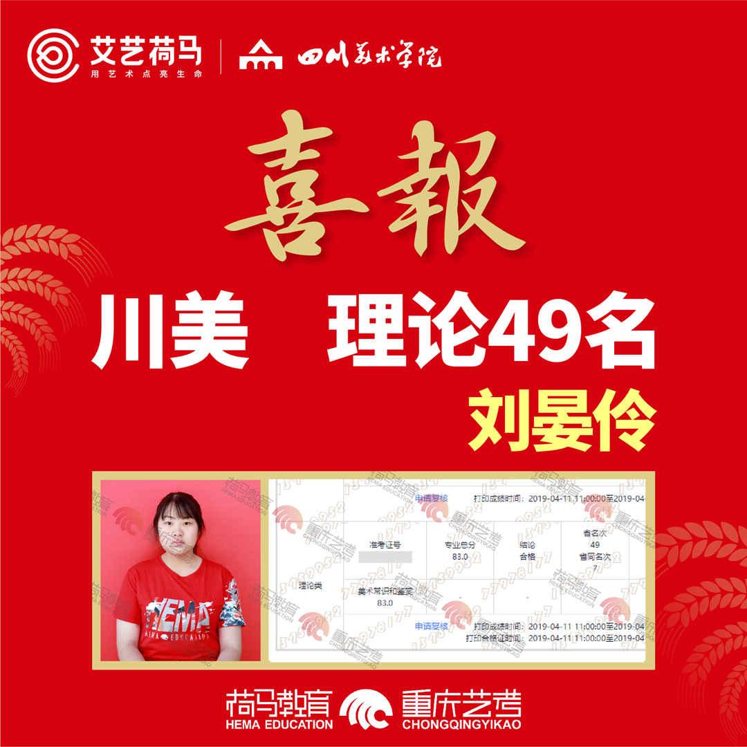 2019年荷马教育四川校考成绩